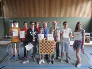 Sieger der Kreisschulschachmeisterschaft 2015.